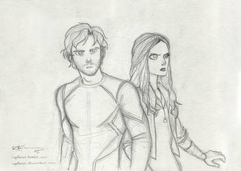 Quicksilver and Scarlet Witch by CaptBexx
