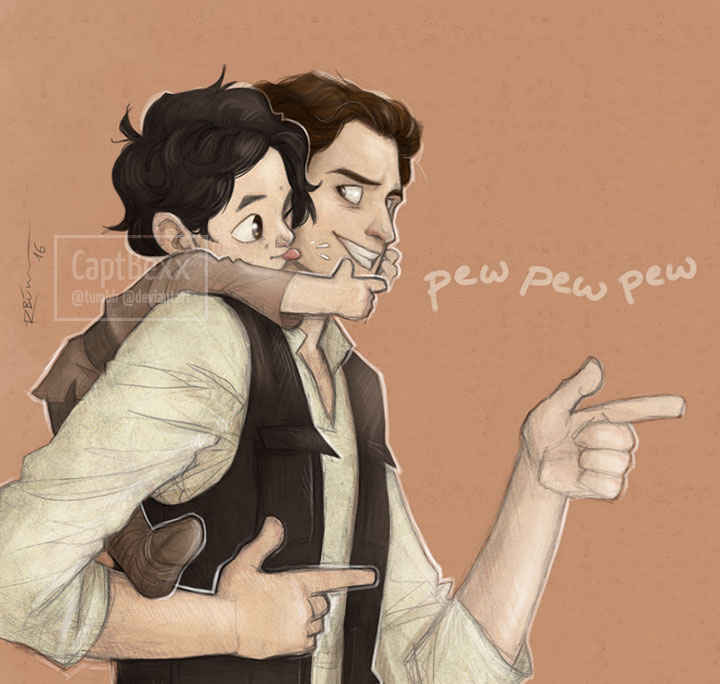 Father and son by CaptBexx
