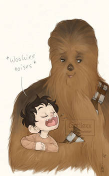 Ben and Chewbacca