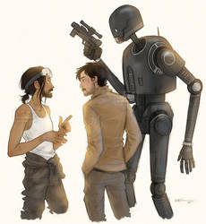 Bodhi, Cassian and K-2SO