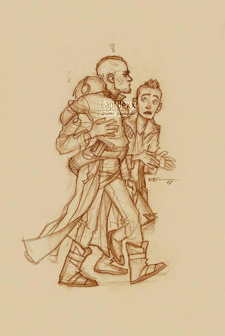 Yondu, Kraglin and Peter