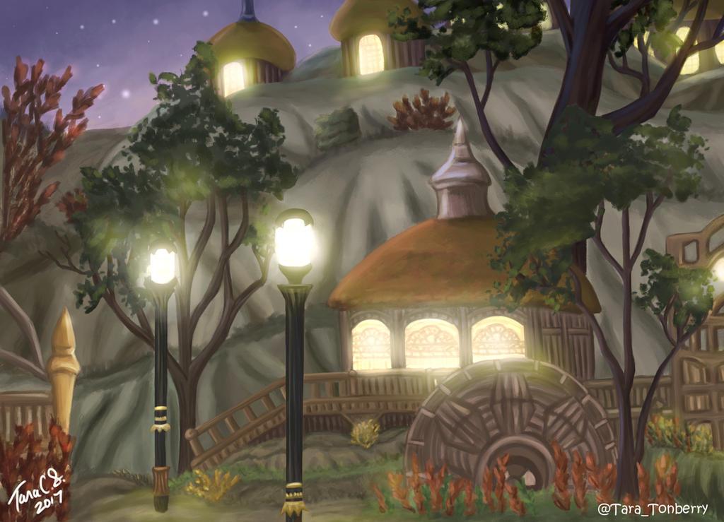 FFXIV - Gridania at Twilight by TaraOBerry
