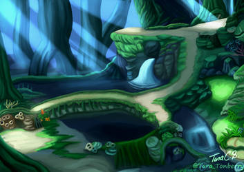 Chrono Cross - Forest Of Cutting Shadows by TaraOBerry