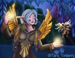 Commission - Nelf Priest - WoW Character Portrait