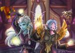 Commission | Dual Faction Character Portrait (WoW)