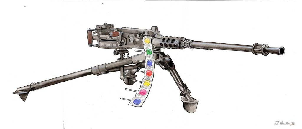 machine gun drawings - photo #21