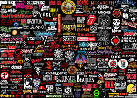 Rock band logos (heavy metal, punk, hard rock...)