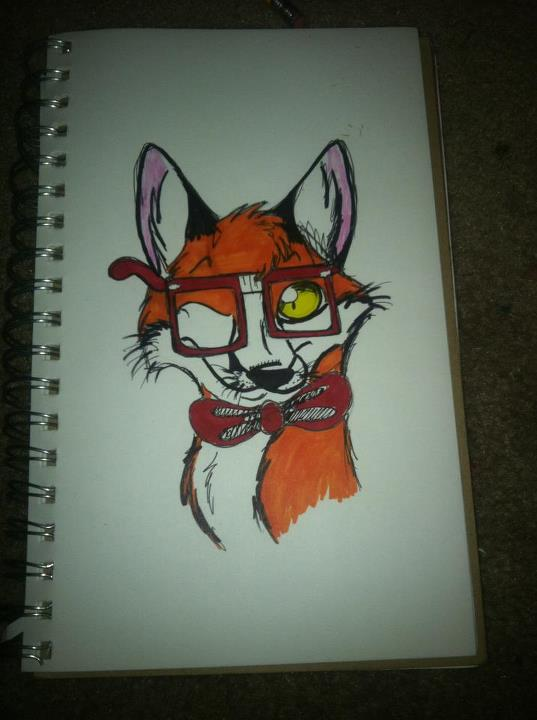 hipster fox :3 by IFollowRivers66 - 38.2KB