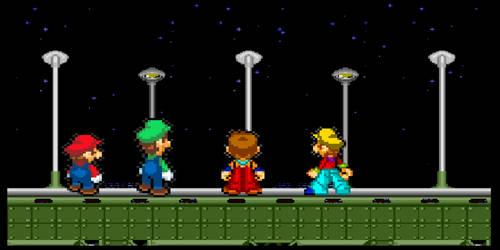 Mario Luigi JosephWhitaker Jake Look At View Night by josephjoewhitaker