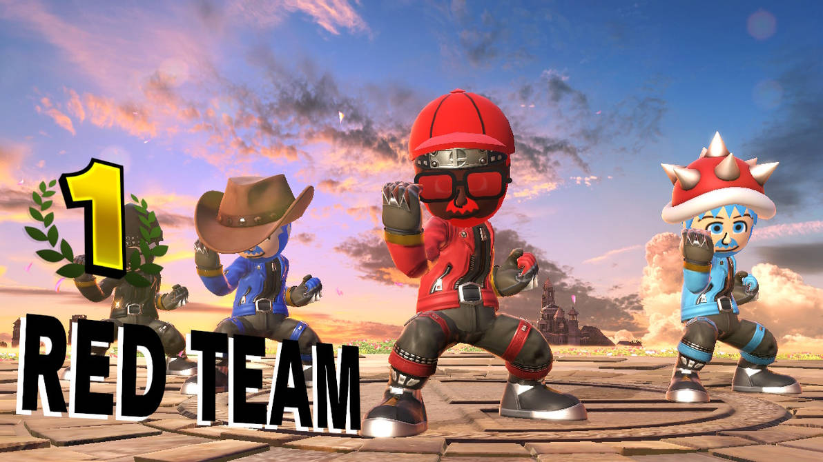 My Awesome Mii Brawlers Team Victory by josephjoewhitaker