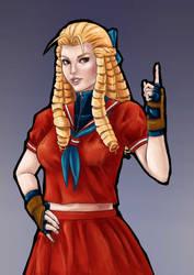 Karin fan art, Street Fighter by CGHow