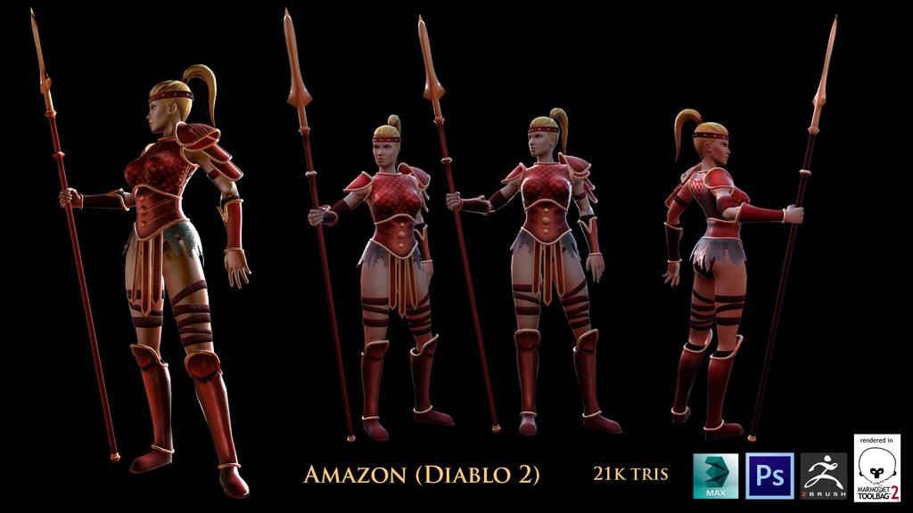 DIABLO 2 BEST AMAZON SET