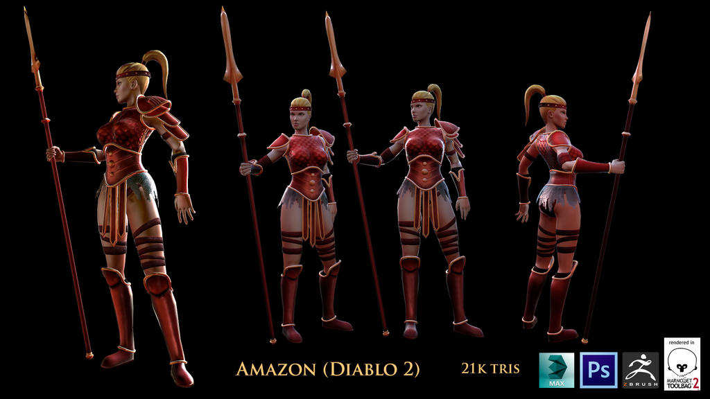 Amazon, Diablo 2 (Fan art)