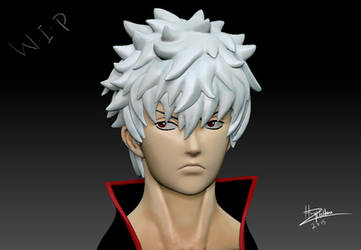 Gintoki 3D bust (WIP) by CGHow