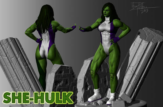 She-Hulk 3D sculpt fan art (Marvel)