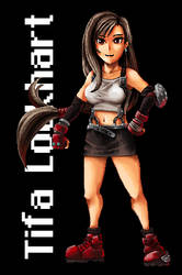 Tifa Lockhart pixel art (Final Fantasy VII)