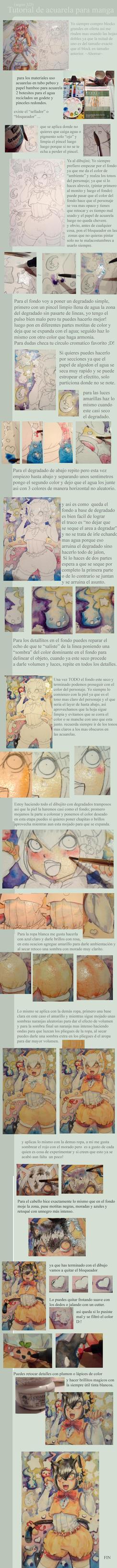 Tutorial acuarelas spanish version by Tanuki-Mapache