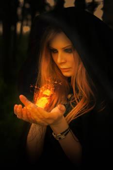 Black Magic Fire Bird Photomanipulation
