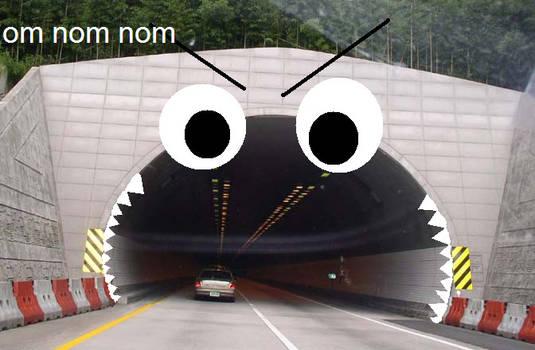 car tunnel om nom nom