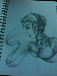 headphones work doodle by asimpleparadox
