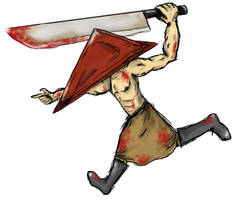 coloured pyramid head