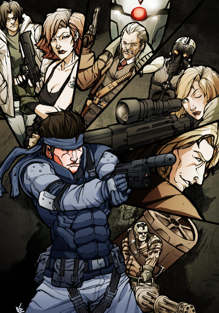 Metal Gear Solid by WillJonesArt