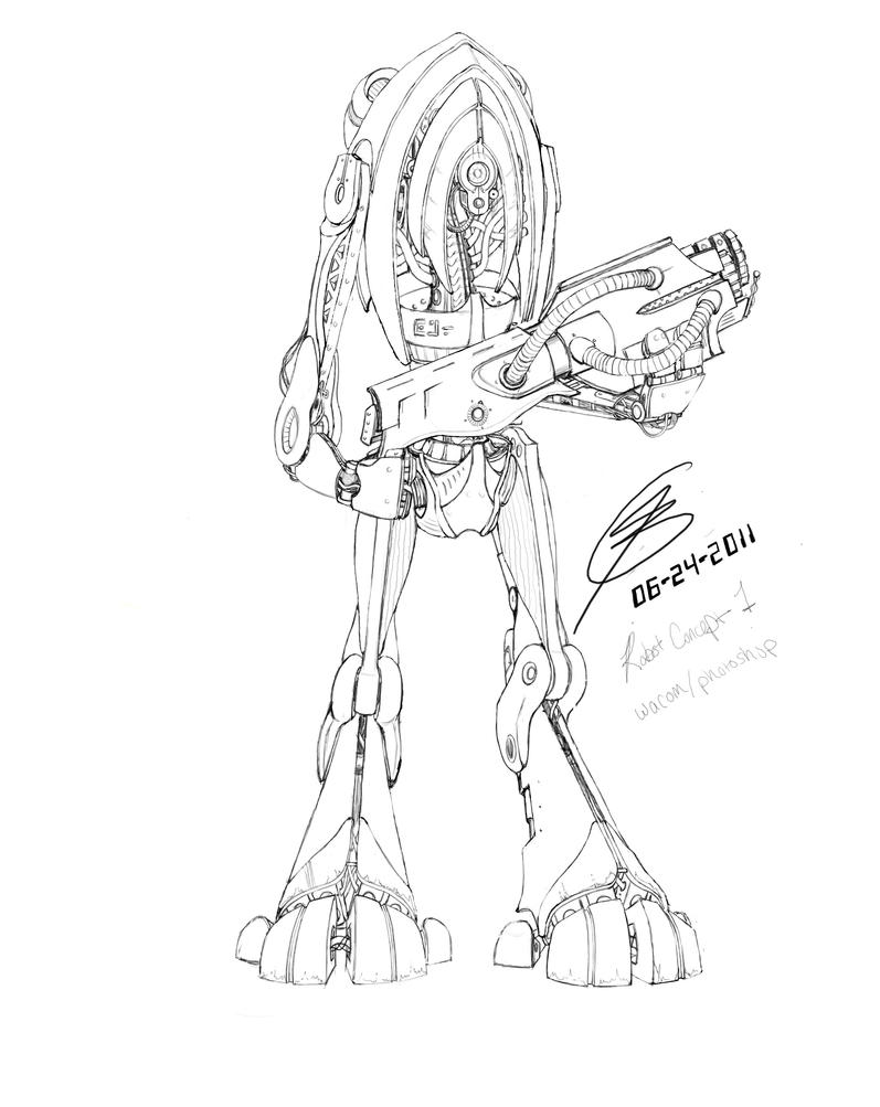 Line Drawing Robot : Robot line drawing by neopork on deviantart