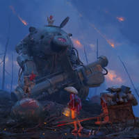 Roadside of War. Full process is now available.