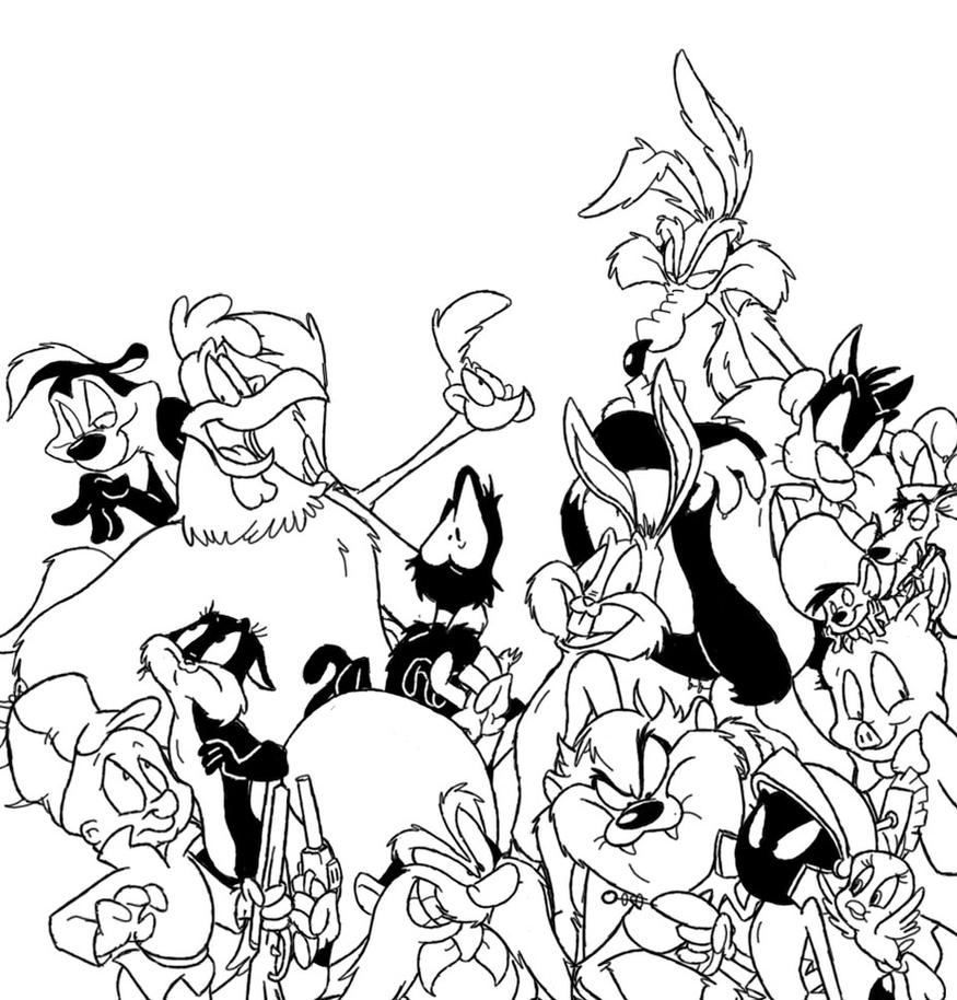 Looney tunes lineart by winter freak on deviantart for Coloring pages looney tunes