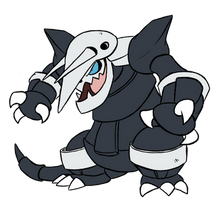 306 - Aggron by Winter-Freak