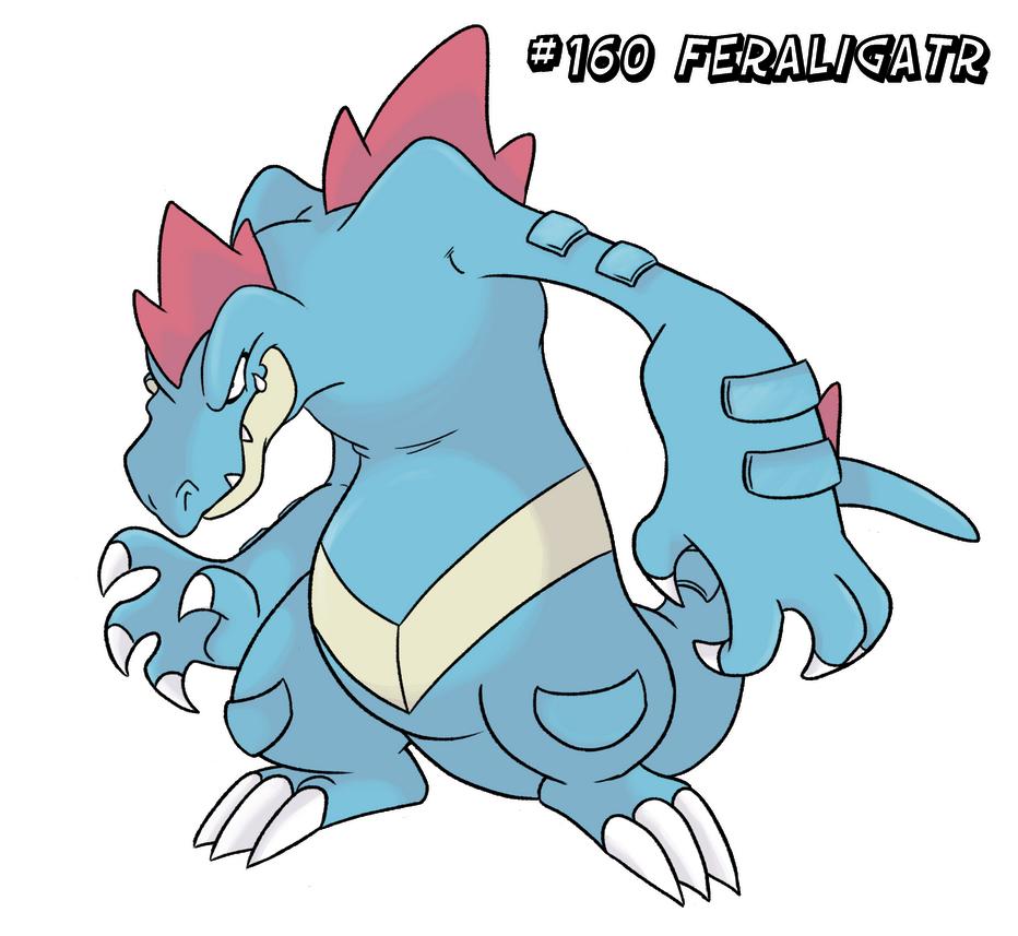 160 - Feraligatr by Winter-Freak