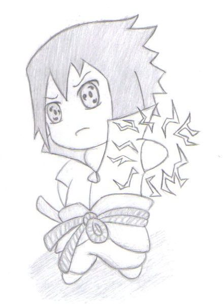 how to draw sasuke easy