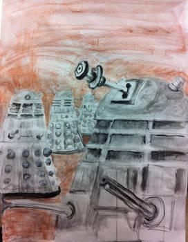 Dalek Drawing - FallCon 2013
