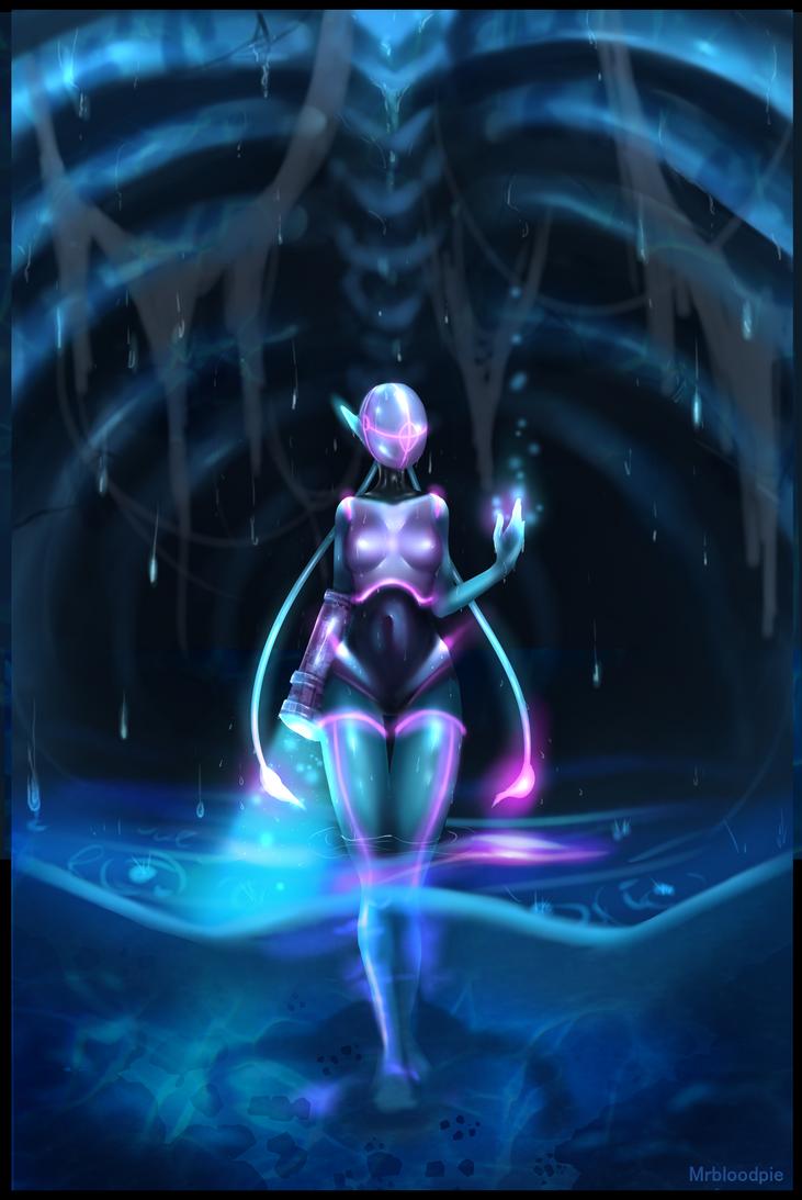Alien girl by Mrbloodpie