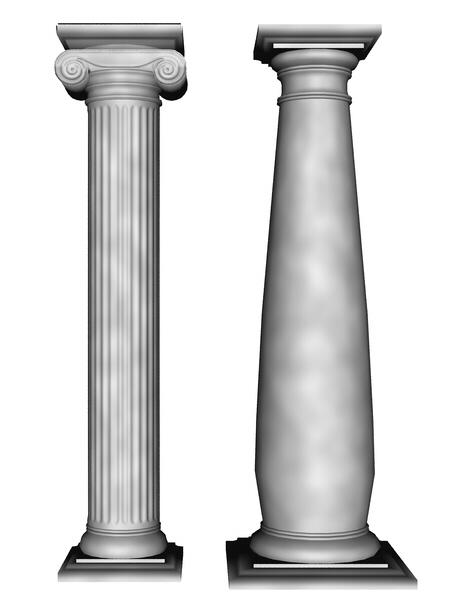 Low poly greek columns by sand3 on deviantart for Polyurethane columns