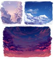 Skies practice by Tpiola