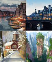 Background Studies by Tpiola