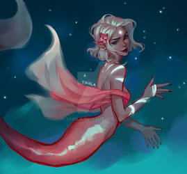 Starry mermaid