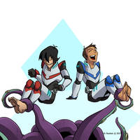 Keith and Lance (Voltron) tickled