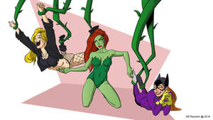 Black Canary and Batgirl tickled by Poison Ivy