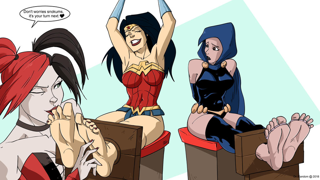 Wonder Woman Tickled (feat. Harley Quinn and Raven by Dr-Willard