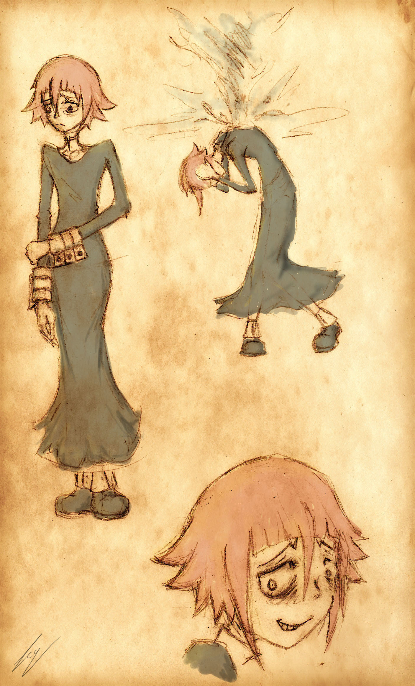 Crona Practice Sketches by icyzappy