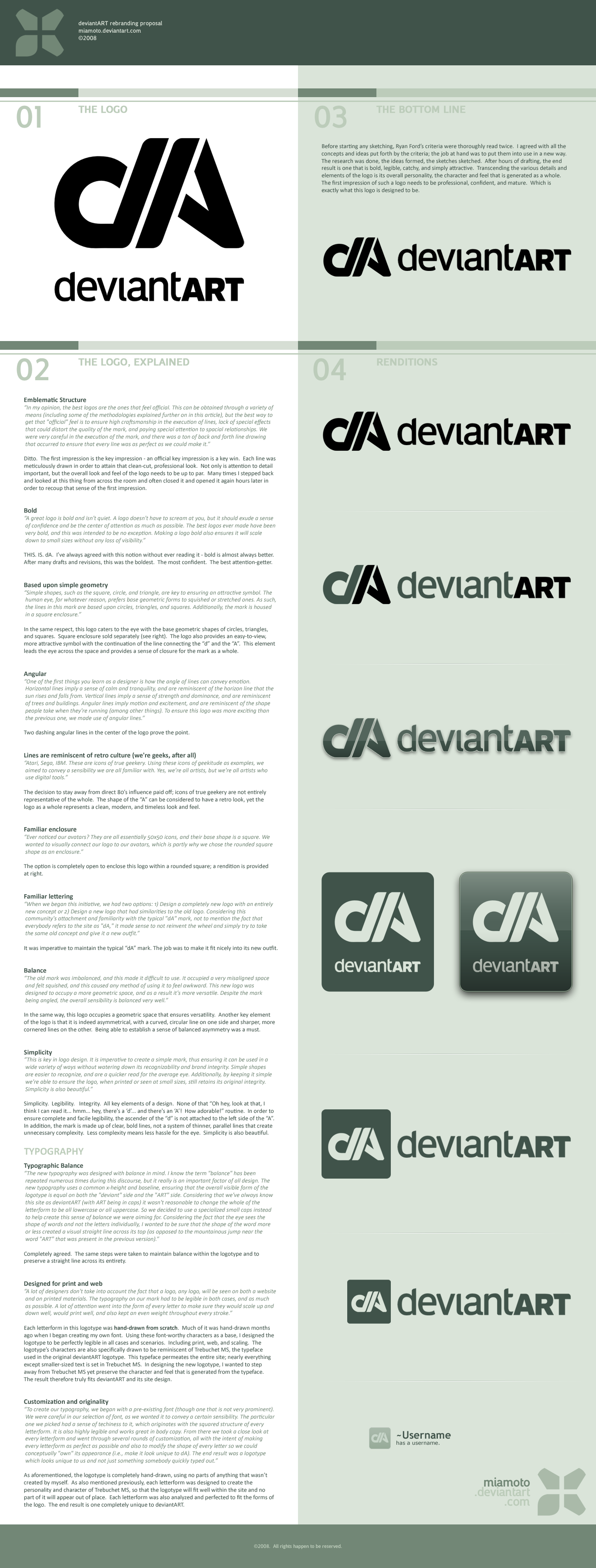 deviantART Logo Proposal by Miamoto