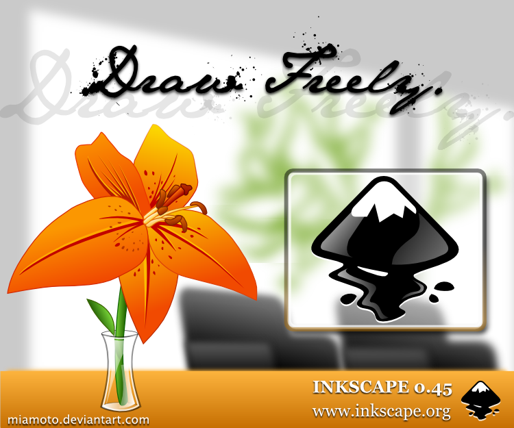 Inkscape 0.45 About Screen by Miamoto