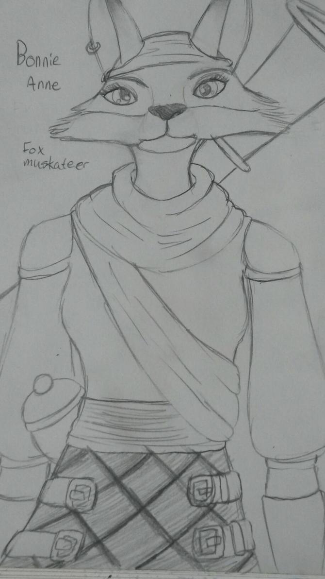 Bonnie Anne Fox Musketeer by PuffytonDoesArt