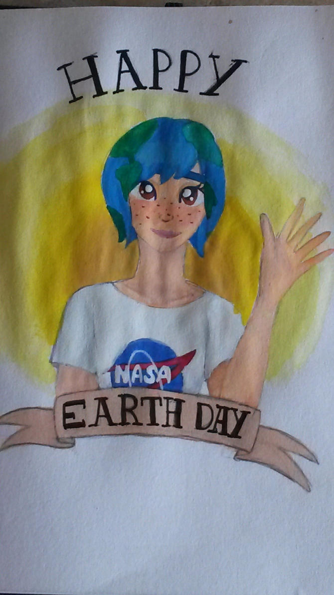 Earth Chan by PuffytonDoesArt