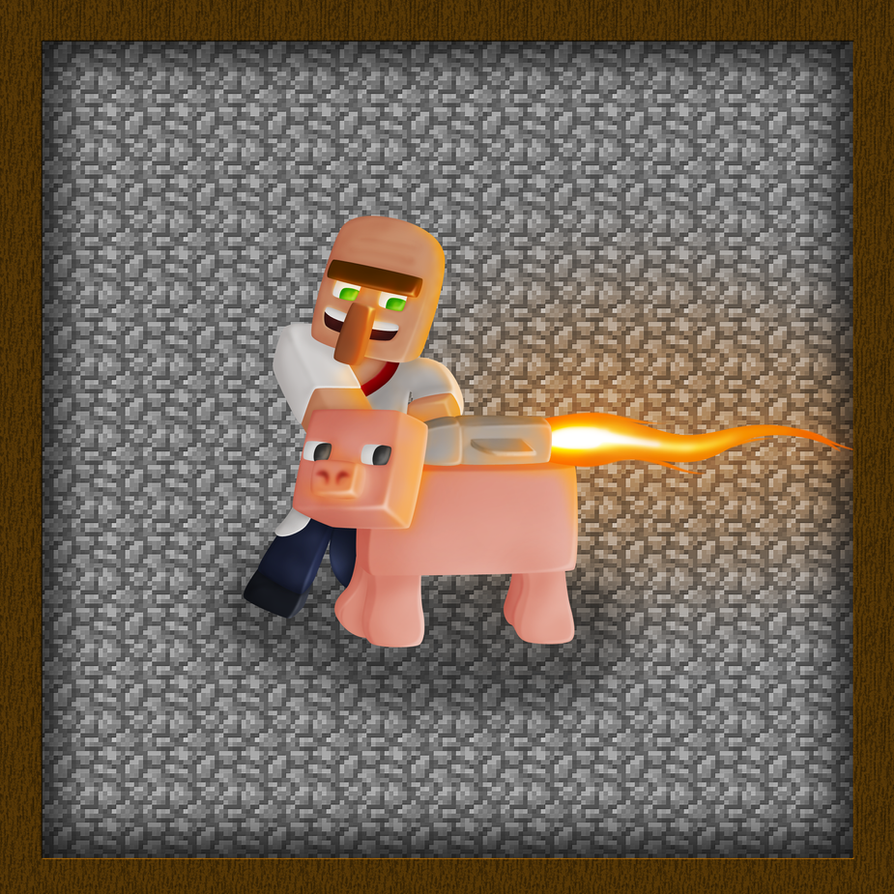 how to ride pigs in minecraft