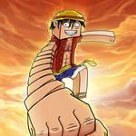 Minecraft Monkey D Luffy