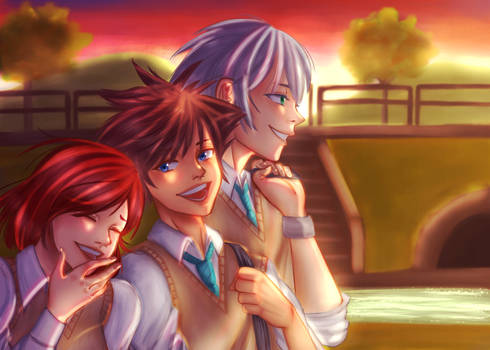 Kingdom Hearts AU: Destiny Trio // March Caprice
