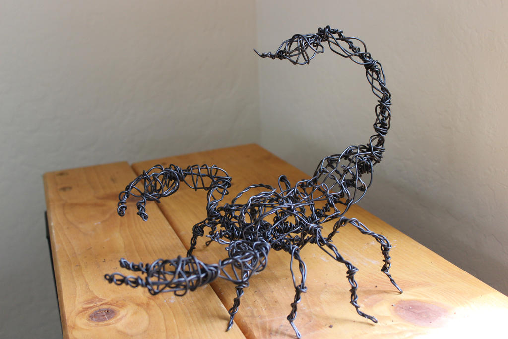 Scorpion Sculpture - wire by valdakis on DeviantArt
